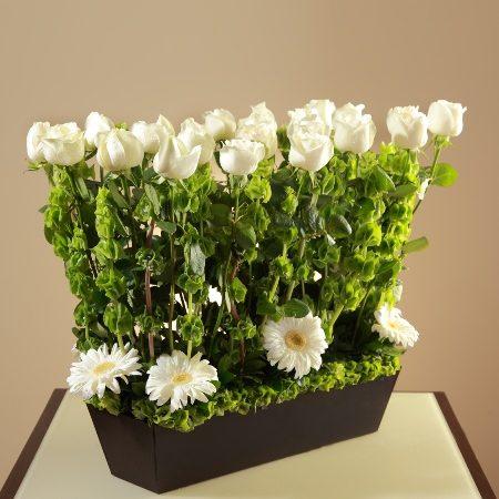 Pie de Caja con Rosas