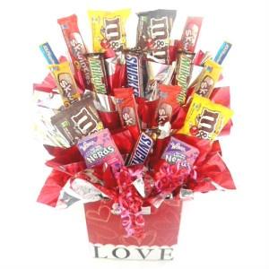 Caja con Dulces y Chocolates